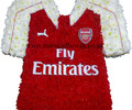 Arsenal Football Tshirt Funeral Flowers