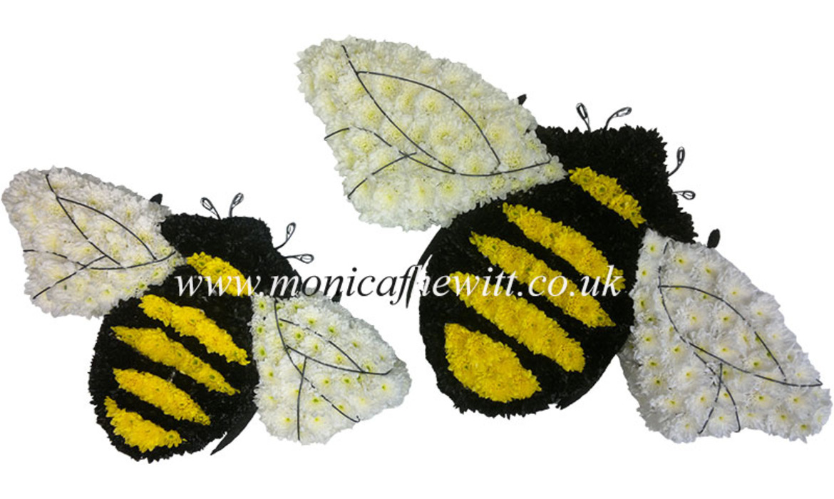 Bee Sports Logo Funeral Flowers