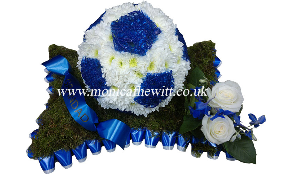 Football Funeral Flowers