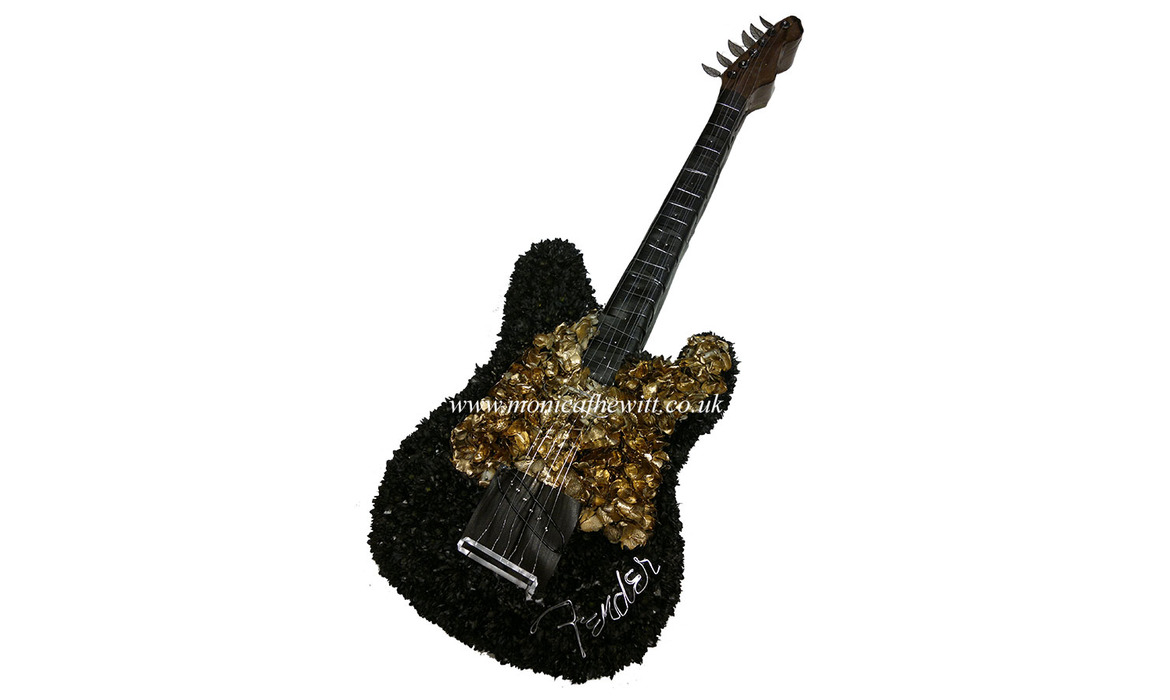 Guitar Fender Funeral Flowers
