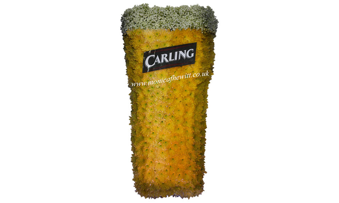 Carling Pint Funeral Flowers