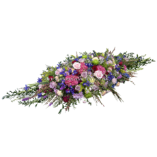 Colourful Casket Arrangement