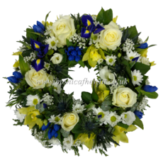 Hint of Blue Wreath