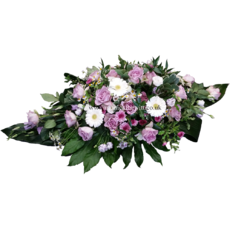 Lilac & White Casket Arrangement