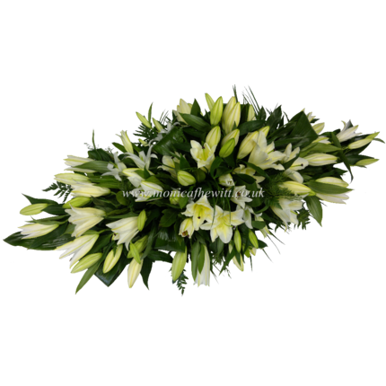Lily Casket Arrangement