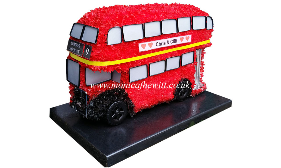 Funerals monica f hewitt london bus funeral flowers izmirmasajfo